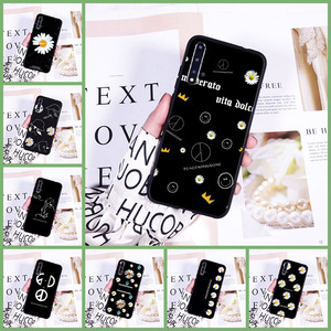 Phone Case For Huawei Honor V20 8S 8A Pro Daisy Flower Black Cool White Silicone Back Cover For Huawei Honor 10i 20i 20 Lite Pro