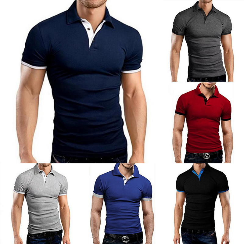 Litthing 2019 New Fashion Helly Hansen Printed Men   Polo   Shirt Lapel Collar Slim Fit Tops Casual Classic Male   Polos   Shirts S-5XL