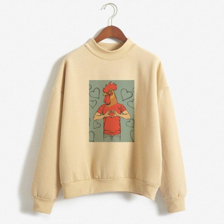 Women Hoodies 2019 Autumn Winter Sweatshirts Cartoon Kawaii Lovely Cartoon Print Fleece Loose Moletom Feminino Harajuku Pullover