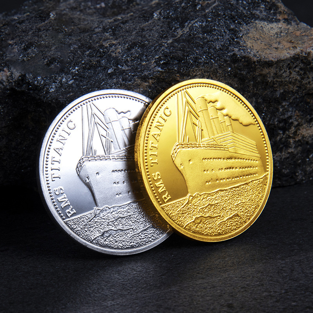 1pc Titanic Ship Coin Copy Coins Commemorative Coins Collection Gift Titanic Incident Collect BTC Bitcoin Arts Home Decoration