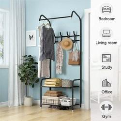 Perchero de aterrizaje soporte de ropa percha estante de almacenamiento de pie estante de ropa perchero moderno estilo Simple muebles de dormitorio