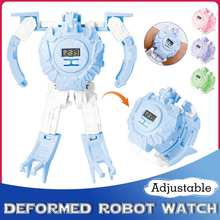 Children Kids Watch Telescopic Deformation Robot Toys Digital Watch