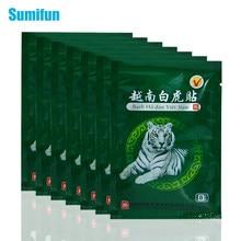 48 pçs branco tigre bálsamo gesso calmante músculos emplastros medicados corpo pescoço massageador alívio remendo artrite capsicum gesso