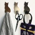 Комплект из 2 предметов с рисунком кота самоклеящиеся крючки для хранения держатель для ванной кухонная вешалка прочно держаться на поверх...