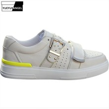 Brand Men Spring New Buckle Genuine Leather Casual Flat Shoes