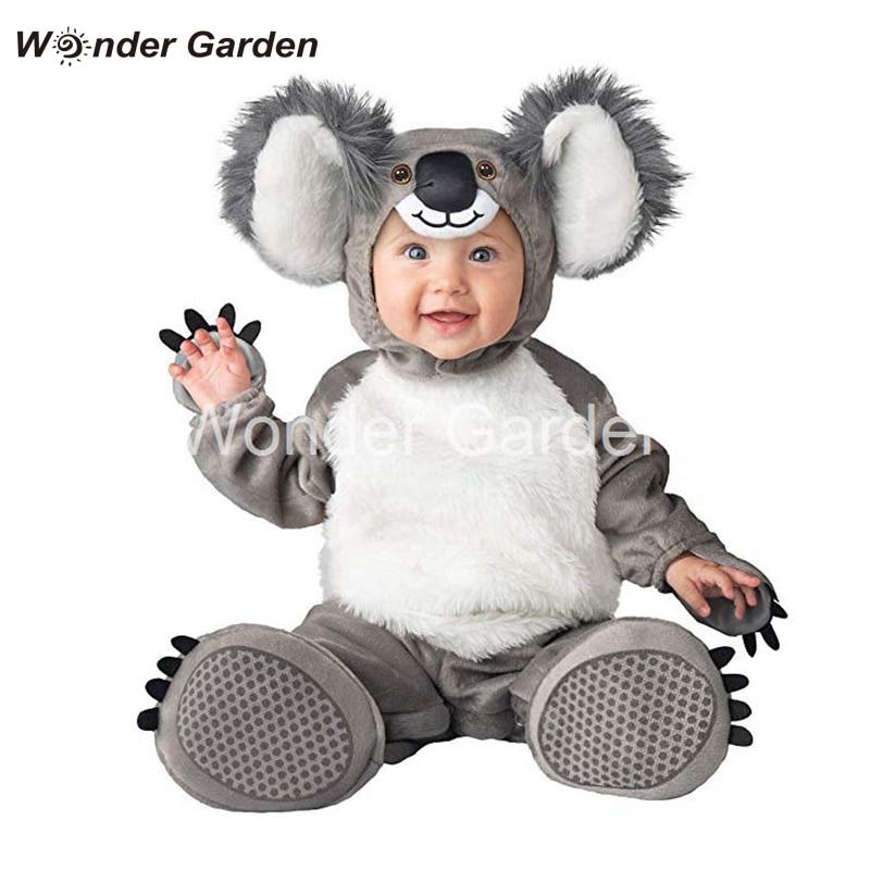 Wonder Garden New Toddler Newborn Baby Boy Cute Koala Costume Halloween Dress Up Costume Outfit