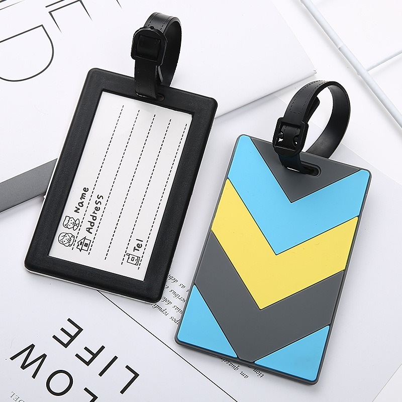 1pc New Luggage&bags Accessories Cute Novelty Rubber Funky Travel ID Addres Holder Label   Luggage Tags
