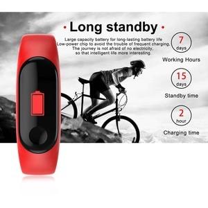 Image 2 - M3 الذكية شاشة ملونة ممارسة سوار معدل ضربات القلب ضغط الدم كشف اللياقة البدنية عداد الخطى متوافق مع أندرويد و IOS