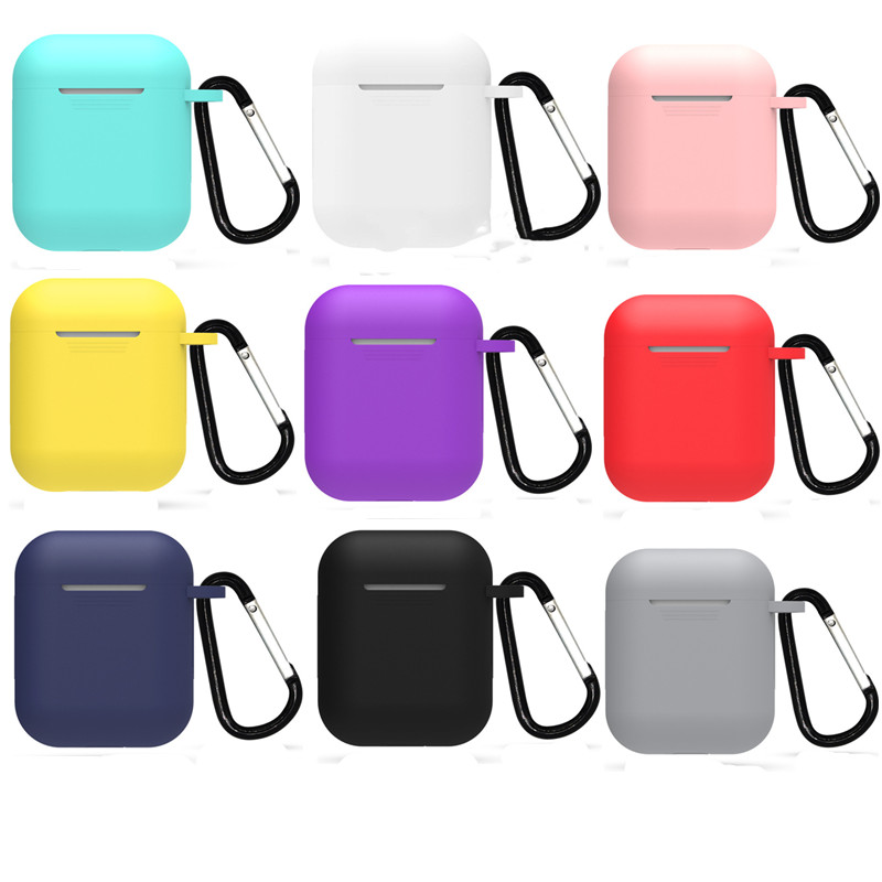 Silicone Earphone Case For Apple AirPods Cover Wireless Headphone Protective Pouch For AirPod Shockproof Storage Box