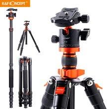 "K & F קונספט 67 אינץ אלומיניום מצלמה חצובה חדרגל עם 360 תואר כדור ראש 1/4 ""שחרור מהיר צלחת עבור DSLR Canon מצלמות"
