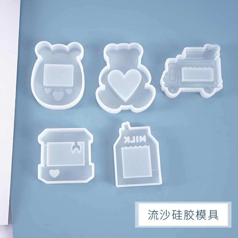 DIY Crystal Epoxy Quicksand Resin Mold Pendant Jewelry Game Machine Milk Box Silicone Mold For Resin