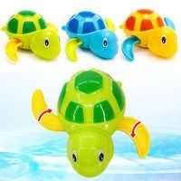 2019 mignon dessin animé Animal tortue classique bébé eau jouet infantile nager tortue enroulé chaîne horloge enfants plage bain jouets