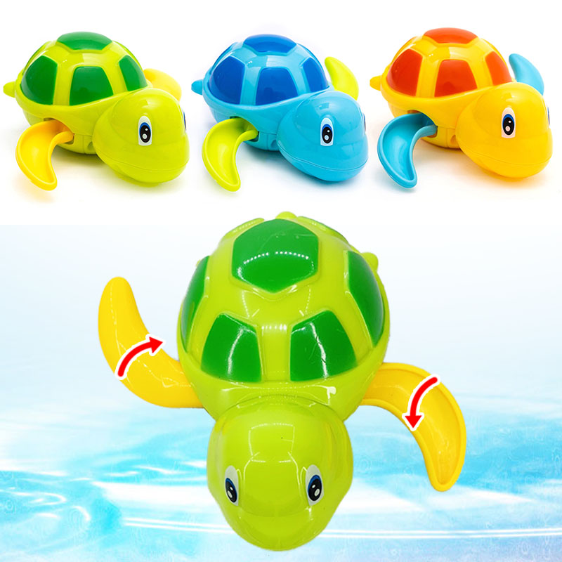 2019 Cute Cartoon Animal Tortoise Classic Baby Water Toy Infant Swim Turtle Wound-up Chain Clockwork Kids Beach Bath Toys