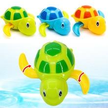 2019 lindo Animal de dibujos animados tortuga juguete de agua de bebé clásico tortuga de natación infantil cadena enrollada relojería niños playa juguetes de baño