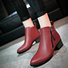 2019 New Autumn Winter Women Shoes Female Side Zipper Pointed Toe Boots Women Ankle Boots Vintage Fashion Martin Boots цена в Москве и Питере