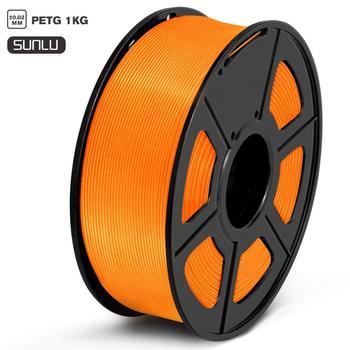 PETG Filament 1kg 1.75mm Diameter Tolerance +/-0.02mm 320m/Roll 100% No Bubble High Strength FDM 3D Printer Printing Mat