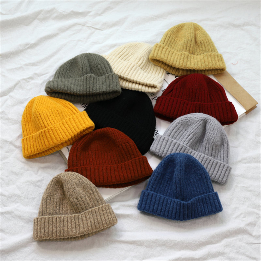 Winter Hats for Women Men Knitted Beanies Solid Color Autumn Hat Female Beanie Caps Warm Bonnet Ladies Casual Cap