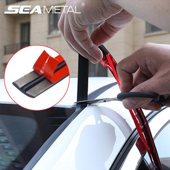 Gumowa uszczelka samochodowa paski Auto uszczelka ochronna naklejka okno krawędź szyba dachowa gumowe uszczelnienie taśmy izolacja akustyczna akcesoria tanie i dobre opinie SEAMETAL CN (pochodzenie) 0inch Rubber Wypełniacze Kleje i uszczelniacze 0 1kg Car seal protection 1 4cm C40052 Car seal strips