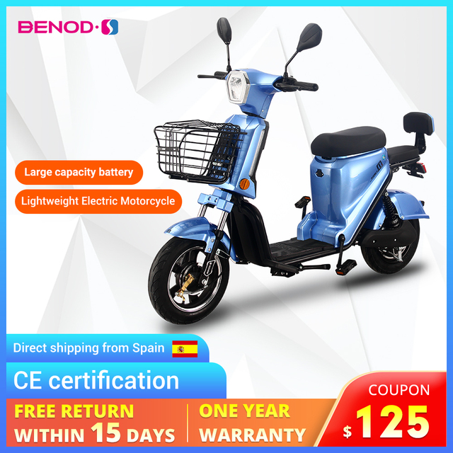 Motocicleta Eléctrica CE Cert Electric Light Electric Motorcycle Fast High-power Moped Bicycle Electrique Moto EU Trans 1