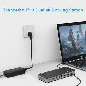 Image 5 - [インテル認定] サンダーボルト 3 USB C デュアル 4 18k @ 60 hz ドッキングステーションビデオディスプレイ USB C 電力供給 macbook pro の 60 ワットまで