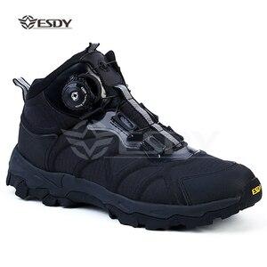Уличные спортивные мужские походные ботинки; Военная Тактическая обувь; Нескользящая дышащая водонепроницаемая походная обувь для охоты; ...