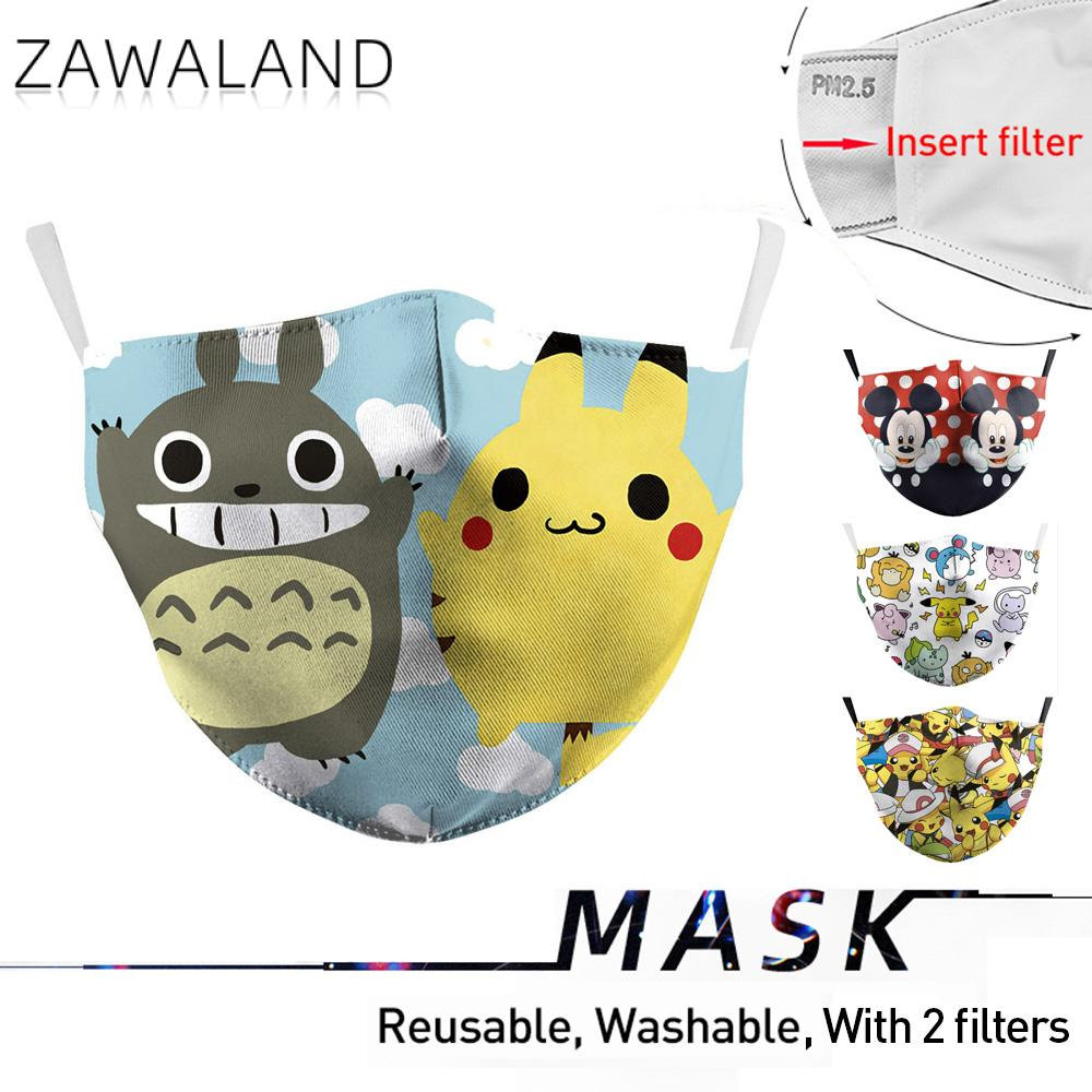 Zawaland Adults Reusable Anti Pollution PM2.5 Protective Cute Cartoon Totoro Printing Mouth Mask Anti Dust Waterable Reusable