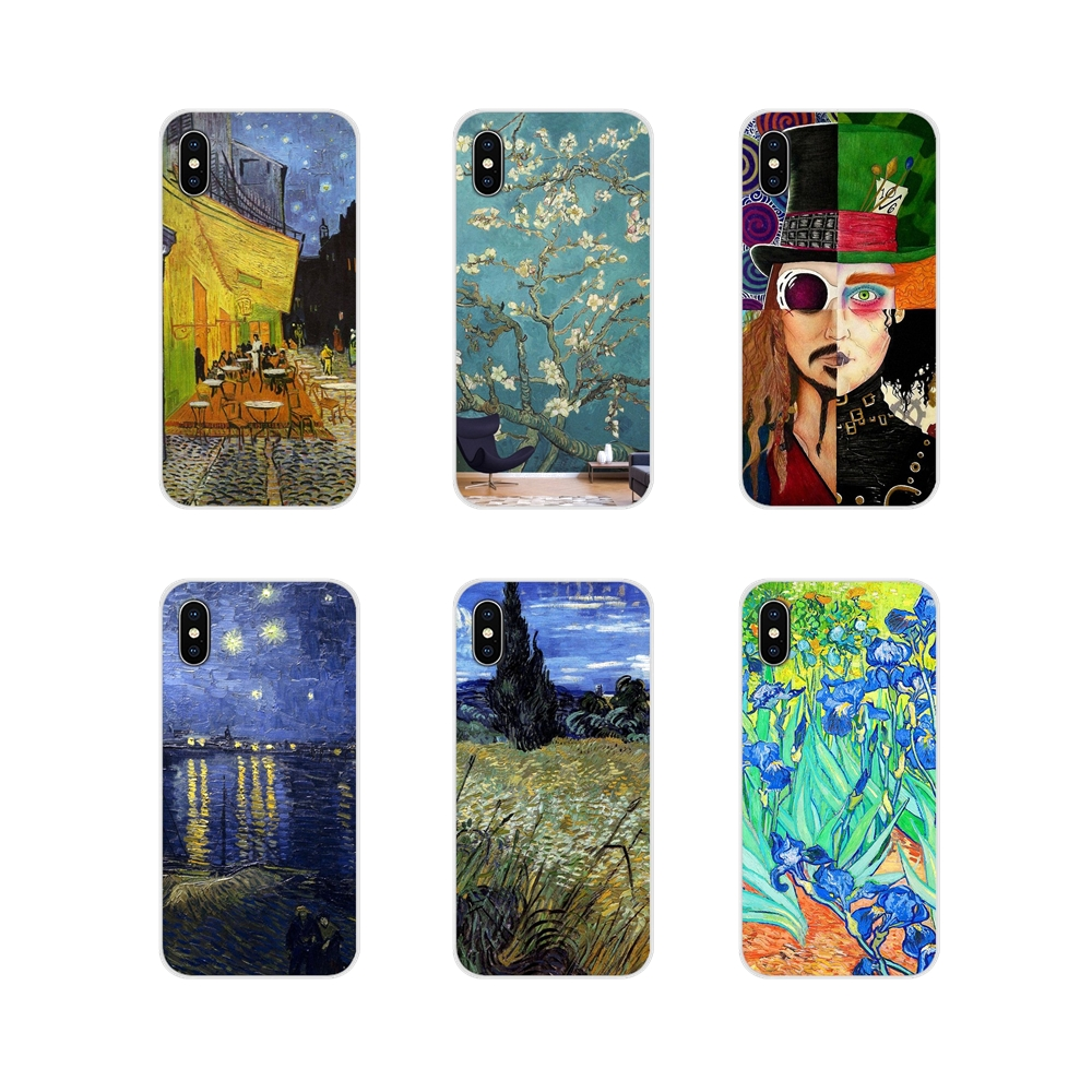 For Samsung A10 A30 A40 A50 A60 A70 Galaxy S2 Note 2 3 Grand Core Prime Accessories Phone Shell Covers Starry Night Van Gogh