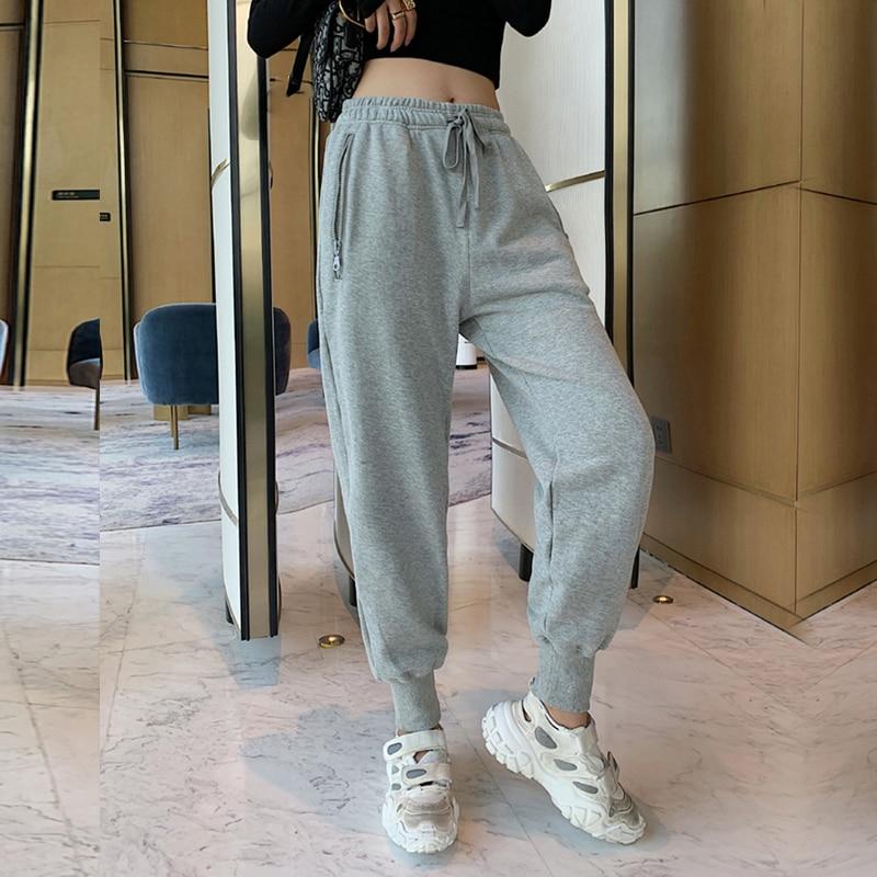 Women Sweatpants High Waist Loose Casual Sport Pants Joggers Trousers Hip Hop Grey Streetwear Korean Style Female Clothes