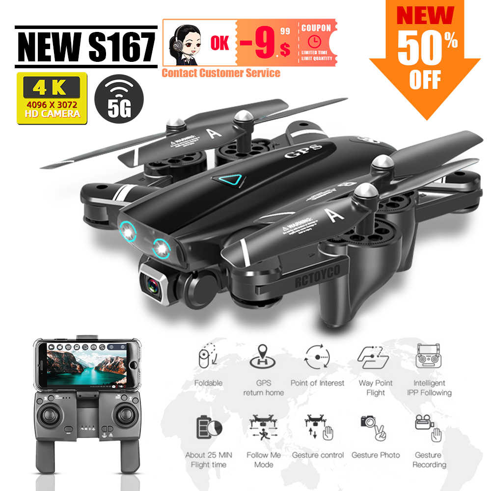S167 Dron 4K Gps Quadcopter Drone Met Camera Speelgoed Rc Helicopter Profissional Quadrocopter Fpv Speelgoed Racing Vs S20 SG907 x8 SG701s