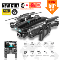 S167 dron 4k GPS quadcopter drone con cámara Juguetes rc helicóptero profissional cuadricóptero FPV juguete de carreras del Sg907 F8 X8