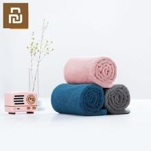 Xiaomi 32X70cm serviette 100% coton 5 couleurs forte Absorption deau bain doux et confortable plage visage essuie mains