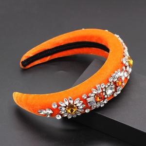 Image 4 - Baroque กำมะหยี่ rhinestone หรูหราอารมณ์บอลบุคลิกภาพ headband Boutique แฟชั่น rhinestone headband 790