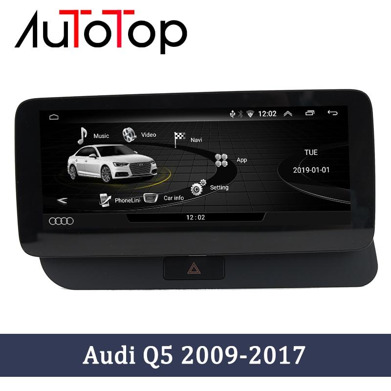 Автомобильный мультимедийный проигрыватель AUTOTOP, Android 10,0, GPS, для Audi Q5 2009-2016, Google SWC, BT, Wi-Fi, радио, GPS навигация, стерео