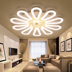 Montowane na powierzchni nowoczesne lampy sufitowe led do salonu sypialnia biały lustre plafonnier oprawa lampa sufitowa do domu