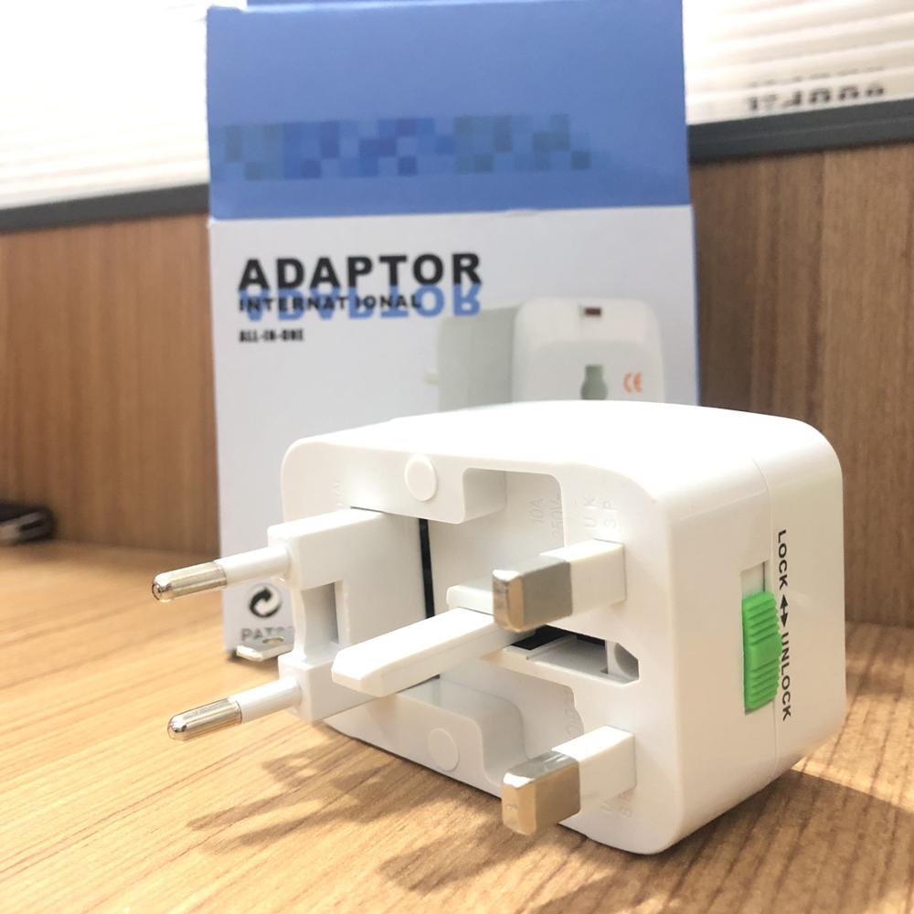 Universal Worldwide Travel Adapter For 150+ Countries, International Power Charger Adaptor US/UK/AU/EU Plug Wall Charger