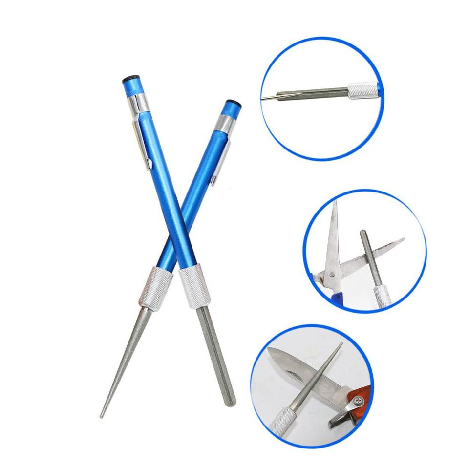 PiniceCore Outdoor-Mini-Diamant-Fischmesser Hook Sharpener Sch/ärfen Datei-Fischen-Jagd