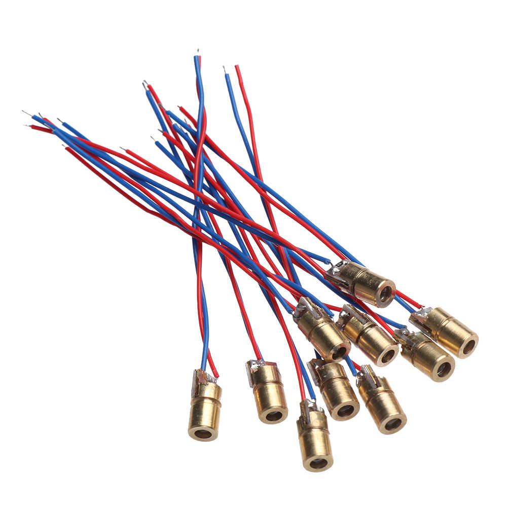 1/3/5/10 Buah Laser Diode 650nm 6 Mm 3/5V 5 Juta Watt merah Kepala Tembaga Yang Dapat Disesuaikan Laser Dot Dioda Modul Peralatan Bengkel