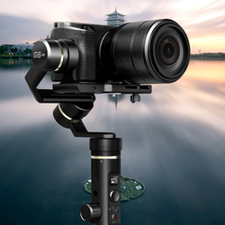 G6 Plus Black Rolling Adjustment Aluminum Alloy 3-Axis Durable Splash Proof All Round Handheld Gimbal For Mirroress DSLR Camera