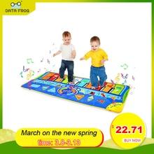 Музыкальный танцевальный коврик DATA FROG, большой размер, детское танцевальное одеяло, многофункциональный игровой коврик с клавиатурой пиан...