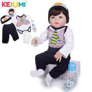 Limited Collect 23 Inch Reborn Baby Doll Toys 57 Cm Full Silicone Vinyl Realistic Handsome Babies Doll Boys Kid Birthday Present(China)