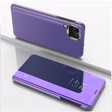 Funda abatible con soporte de espejo para Huawei P40 lite, carcasa protectora de lujo para P40 Pro P 40 P40Lite