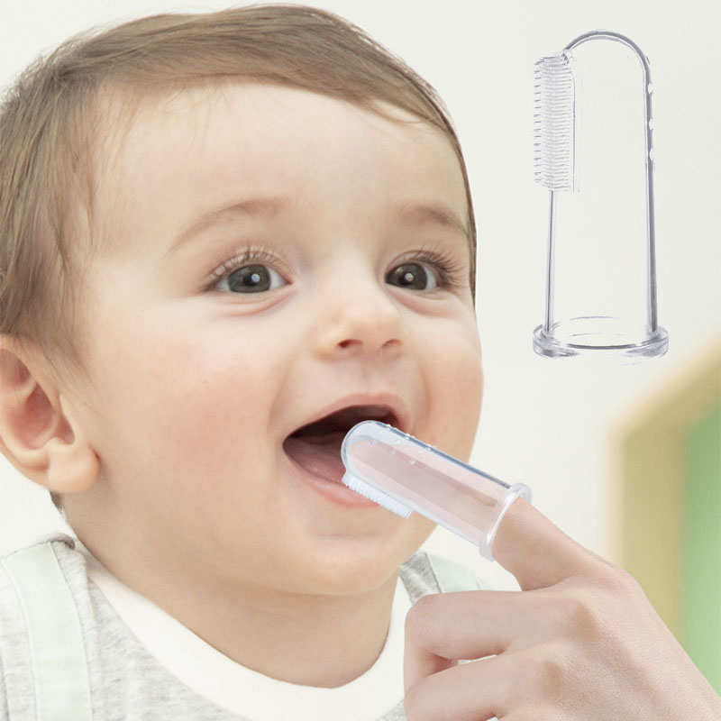 3Pcs Baby Infant Soft Finger Toothbrush Cleaning Teeth Care Hygiene Brush W// Box
