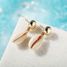 charming simple style wintersweet cuff ring for women Creative Retro Lady Exaggerated Shell Earrings Simple New Marine Style Women Earring Jewelry Gifts Charming H8WF