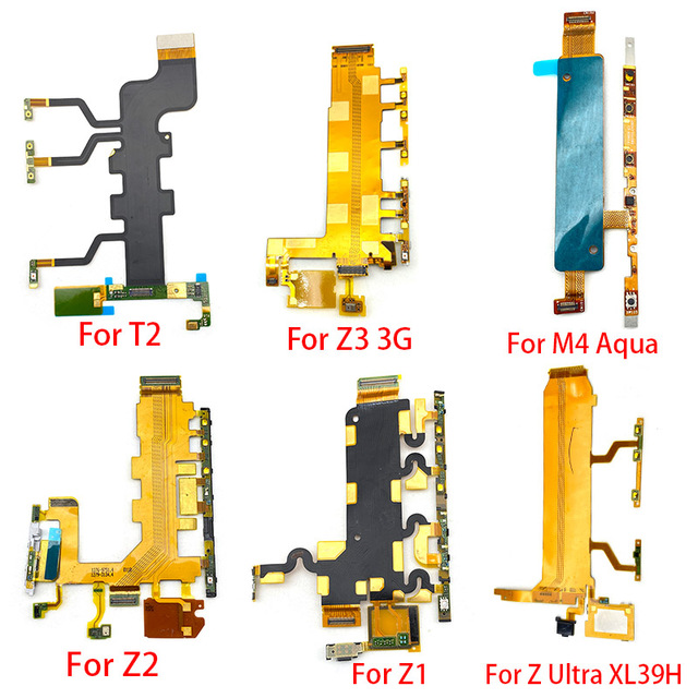 Przycisk włączania wyłączania zasilania przycisk głośności przycisk Flex Cable dla Xperia M4 Aqua T2 T3 Z Ultra Z1 Z2 Z3 Compact Z5 Premium tanie i dobre opinie New625 For Xperia M4 Aqua T2 T3 Z Ultra Z1 Z2 Z3 Compact Z5 Premium Samsung