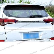 Lsrtw2017 Stainless Steel Car Trunk Tailgate Logo Mark Strip Trims for Hyundai Tucson 2015 2016 2017 2018 Accessories Chrome lsrtw2017 abs car rearview rain shield strip trims for hyundai tucson 2015 2016 2017 2018 2019 2020