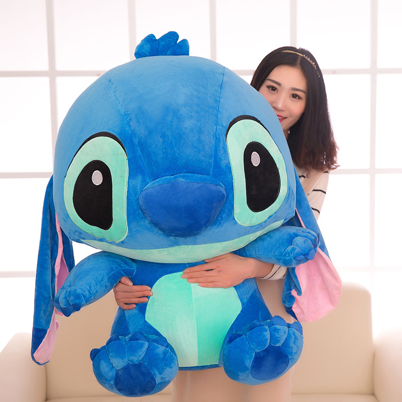 80cm Cute Lilo Stitch Plush Toys Soft Stuffed Cartoon Anime Doll Pendants Lovely Pillow For Children Kids Girls Birthday Gift
