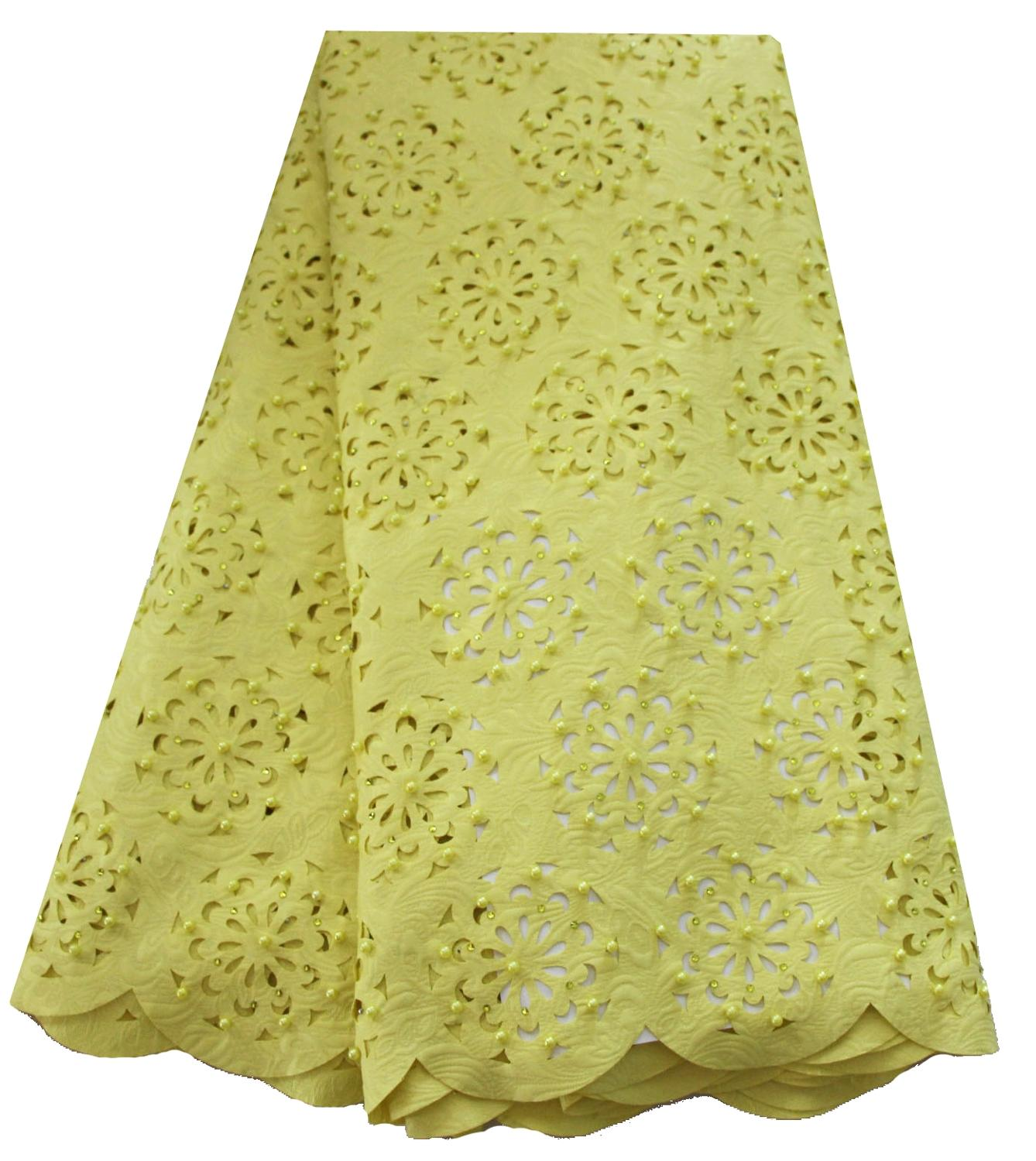 African Lace Fabric 2019 High Quality Lace French Embroidered Laser Cut Lace fabric Nigeria Latest Wedding Dress Lace Fabric