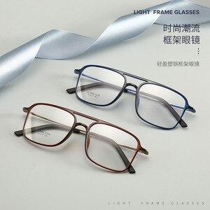 Image 2 - Bclear 超軽量正方形 ultem 眼鏡ダブルビームメガネフレーム男性と女性のモデル潮ビッグフェイス快適な