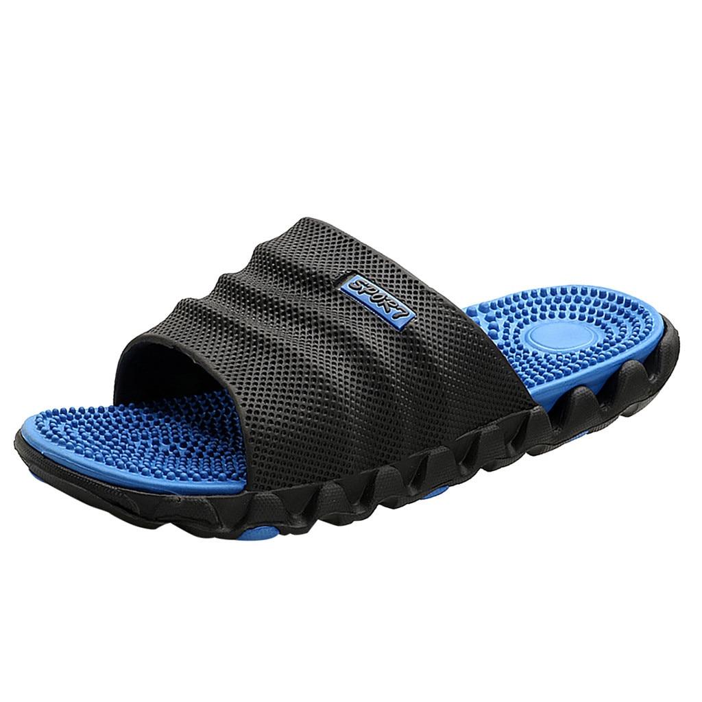 SAGACE Slippers Men Gentleman Leisure Massage Health Wear Non-slip Casual Shoes Men Beach Slippers Shoes Slippers Men Slippers