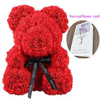 2019 Dropshipping 40cm Soap Foam Rose Teddy Bear Artificial Flower in Gift Box for girlfriend Women Valentines mother Day Gifts